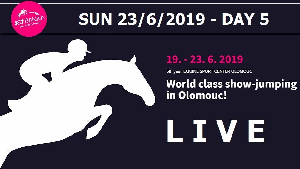 79e078b42a preload Sledujte ŽIVĚ 5. den parkurových závodů J T Banka CSI3 -W Olomouc  2019